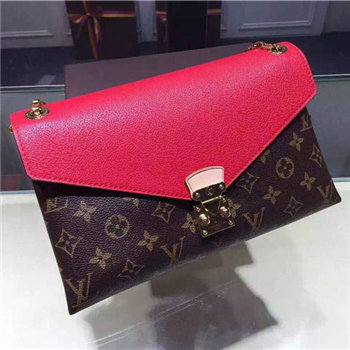 Louis Vuitton Monogram Pallas chain Bag Red