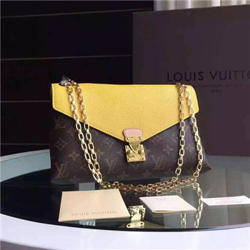 Louis Vuitton Monogram Pallas chain Bag yellow