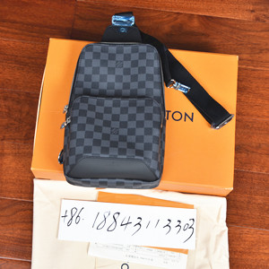 louis vuitton damier grahite avenue sling bag #n41719/n40008