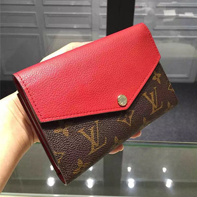 Louis Vuiton PALLAS COMPACT WALLET red