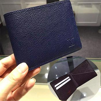 Louis Vuitton MULTIPLE WALLET M32826 taiga leather ocean