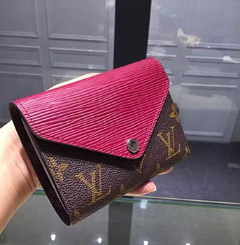 louis vuitton MARIE-LOU COMPACT WALLET red