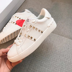 valentino garavani rockstud untitled calfskin leather sneaker shoes