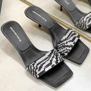 alexanderwang jessie crystal slide shoes