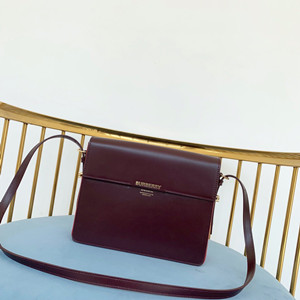 burberry two-tone leather grace bag