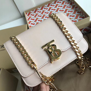 burberry leather tb bag