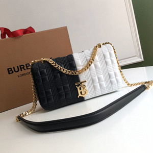 burberry small quilted colour block lambskin lola bag
