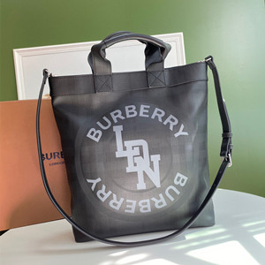 burberry logo graphic london check tote bag