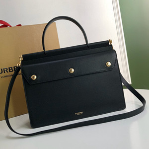 burberry small leather title bag with pocket detail bag