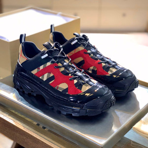 burberry monogram print e-canvas arthur sneaker shoes