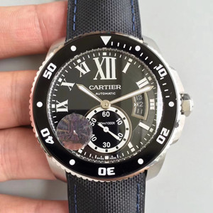 cartier calibre de cartier carbon diver watch jf factory