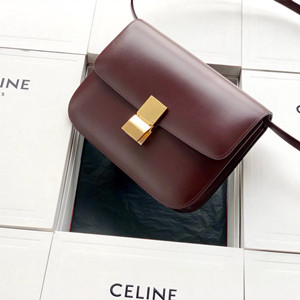celine medium classic bag in box calfskin #608