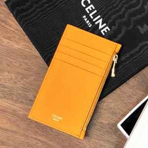 celine zipped compact card holder in grained calfskin #n080