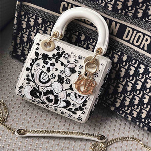 dior mini floral embroidery lady bag