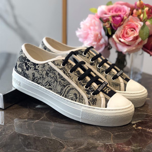 christian dior walk`n`dior sneaker embroidered with toile de jouy shoes