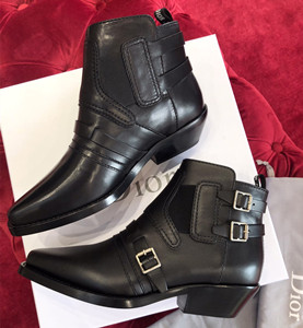 christian dior diorsaddle calfskin leather ankle boot shoes