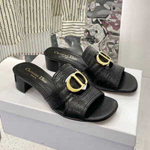 dior 30 montaigne heeled slide shoes
