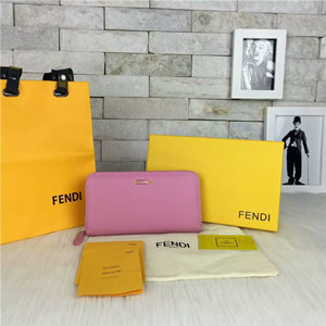 fendi original calf leather wallet 19cm