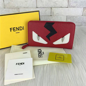 fendi zipped wallet handbags in calfskin 20cm
