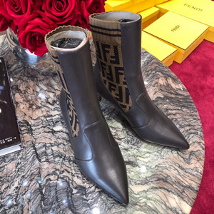 fendi leather ankle boots shoes