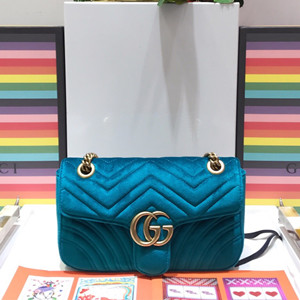 gucci gg marmont velvet shoulder bag #443497