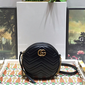 gucci gg marmont mini round shoulder bag #550154