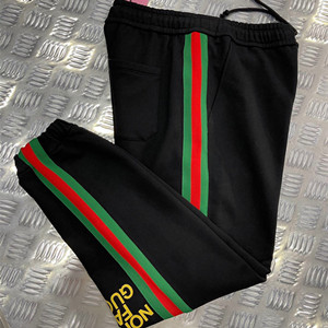gucci x the north face web print cotton jogging pant