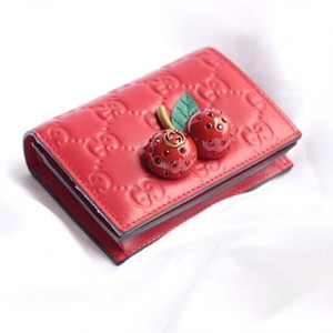gucci signature card case with cherries #476050