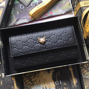 gucci signature continental wallet with cat #548055