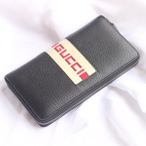 gucci signature web zip around wallet #408831