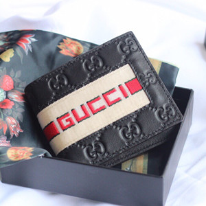 gucci stripe leather wallet #408827