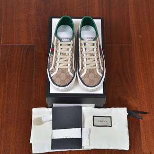 gucci women's gg gucci tennis 1977 sneaker shoes
