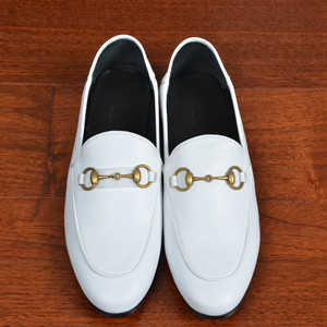 gucci leather horsebit loafer shoes