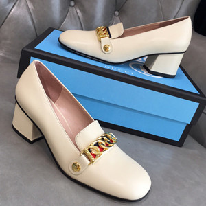 gucci sylvie leather mid-heel pump shoes