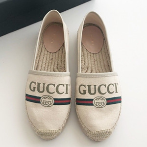 gucci logo canvas espadrille shoes