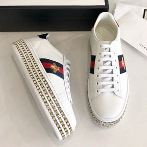 gucci ace sneaker with crystals shoes