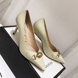 gucci zumi mid-heel leather pump shoes