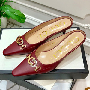 gucci zumi leather slide shoes