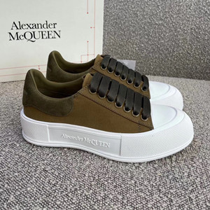 alexander mcqueen deck lace-up plimsoll shoes