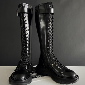 alexander mcqueen tread lace up boot shoes