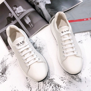 prada leather sneakers shoes