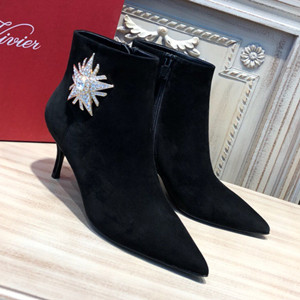roger vivier sin star strass ankle boots shoes