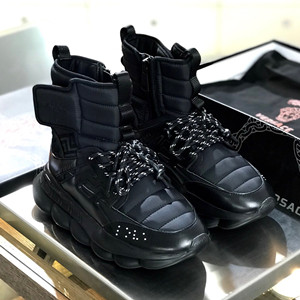 versace chain reaction sneaker boots shoes