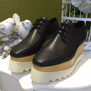 Stella McCartney leather platform shoes sneakers