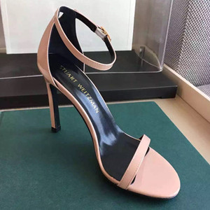 Stuart Weitzman leather sandals high heeled shoes