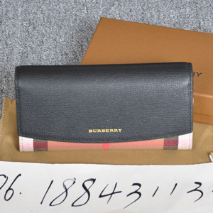 burberry vintage check and leather wallet
