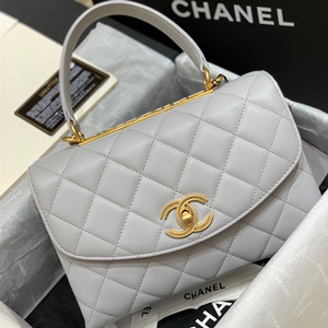 chanel flap bag with top handle #as1174