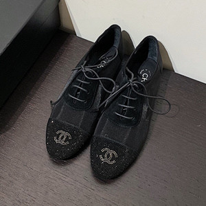 chanel lace-ups shoes