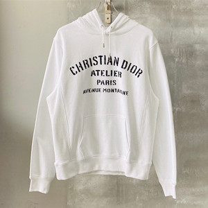 dior oversized 'christian dior atelier' hooded sweatshirt