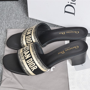 dior dway mule in embroidered cotton shoes